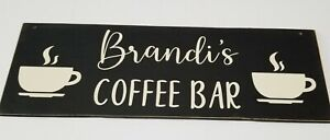 Rustic Custom Personalized COFFEE BAR LOVE IS BREWING Handmade  Farmhouse