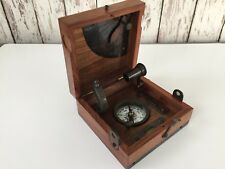 Marine Navigation Box ~ Telescope, Compass, Spirit Level, Alidade Etc