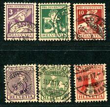 SCHWEIZ 1916 130-135 gest PRO JUVENTUTE 160€(J5372