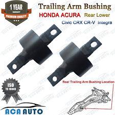 Rear Lower Trailing Arm Bushing Pair Set for Acura Integra Honda Civic CRX CR-V