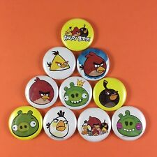 "Angry Birds 1"" Button Pin lot bird catapult phone game"