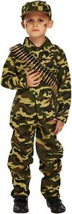 Boys Army Soldier Fancy Dress Outfit Costume World Book Day Age 4 -12 Years New