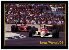 Senna/mansell/gb #165 1991 formule 1 pro trac's trade card (C320)
