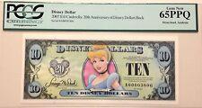 2007A $10 Cinderella Disney Dollar Graded By PCGS Gem New 65PPQ, A00003806