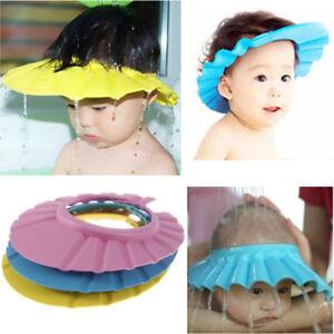 Adjustable Baby Kids Foam Shampoo Bath Bathing Shower Cap Hat Wash Hair Shield P