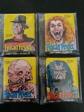 Fright Flicks Trading Card Pack Topps set of 4