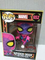 Funko POP: Marvel – Spider-Man Black Light Special Edition Sticker DAMAGED BOX
