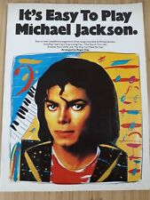 Michael Jackson Easy To Play Song Chords Instruction Song Book Sheet Music