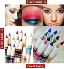 12 Color Glitter Eyeshadow Lip EyeLiner Eye Shadow Pencil Shimmer Pen Makeup Set