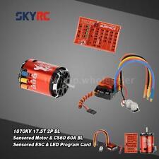 SkyRC 1870KV 17.5T 2P Motor & CS60 60A ESC & LED Program Card Combo Set Z2R1