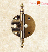 2PCs Steel Antique Old Copper Chinese Dresses Door Hinges  Furniture Hardware