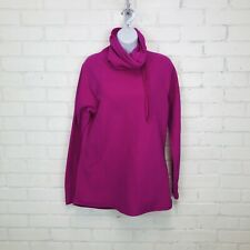 Champion Fleece Funnel Neck Sweater sz M Bright Pink Warm Cozy Outdoor Athletic