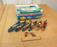 Britains Herald 4501 Indian Canoes x6 With Original Shop Counter Display Box