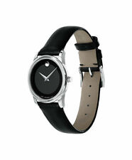 Movado Black Museum Classic # 0606503 With Concave Dot Wrist Watch for Ladies