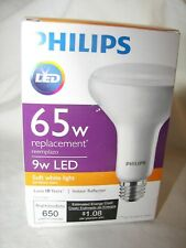 NEW Philips Lot of 2 LED 65w BR30 Indoor Reflect Light Bulbs Dimmable Soft White