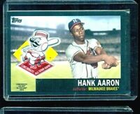 Hank Aaron 2018 Topps Commemorative Patch 1953 All-star Black #75/99 (158)