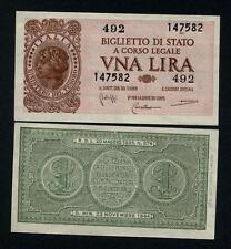 ITALY   1 Lira 23.11.1944  Bolaffi/Cavallaro/Giovinco FDS