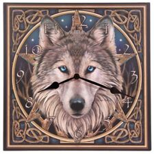 Lisa Parker Celtic Knotwork Wolf Head Fantasy Gothic Picture Clock 29cm