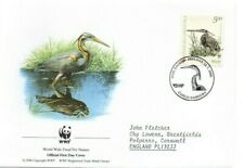 CROATIA  2004 WWF  FDC  Endangered Species.  Purple Heron  SG757