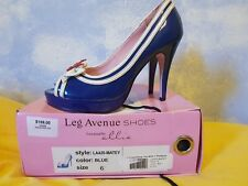 Legs Avenue Pinup couture nautical sailor Heels Sz6