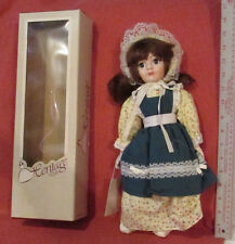"HERITAGE DOLLS WindUp-MUSICAL Song Works Porelain Face+ 15"" Tall NOS Box & Tags"