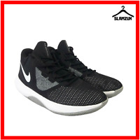 Nike Air Precision II Mens Hi Top Basketball Trainers UK 8.5 / 43 Black Sneakers