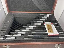 New Set Of 12 Starrett 436 Standard Outside Micrometers 0 12 Standards Case