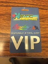 NSYNC VIP PASS, BEACHES event, Turks & Caicos,  September 8-10th, 2001