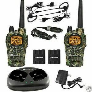 2 Talkie-Walkie Midland GXT1050 Avec Chargeur Et Micros 5W 56 KMS ,Vox Vibracall