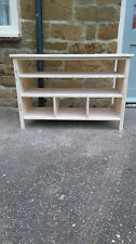 BESPOKE H65 W100 D40 TV entertainment unit stand 2 shelves table UNTREATED
