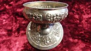 Beautiful Antique Decorative Metallic Ornament Bowl with Cover