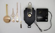 mécanisme horloge pendule à balancier- aiguilles dorées - sonnerie - balancier