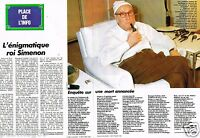 Coupure de Presse Clipping 1989 (2 pages) Enigmatique Roi Simenon