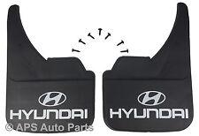 Universal Car Mudflaps Front Rear Hyundai Logo Atoz Coupe Getz Mud Flap Guard