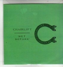 (CX138) Chairlift, Met Before - 2012 DJ CD