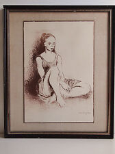 Original Lithograph ''BALLET DANCER''by Moses SOYER/ Certificate of Authenticity