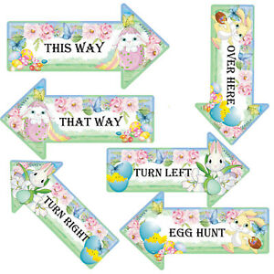 Easter Egg Hunt Signs Arrows, Party Arrows, Easter Bunnies, Easter Chicks