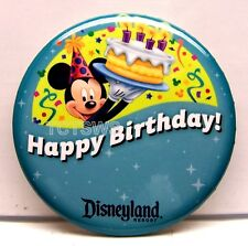 Disneyland Button ~ Lot of 2 Happy Birthday ~ Limited Edition Buttons NEW