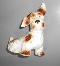 Antiguo Figura de Porcelana Perro Terrier Decoración Vintage Dog 14,5 CM