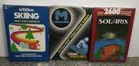 LOT OF THREE GAMES FOR ATARI 2600/7800 BRAND NEW VINTAGE RARE NOS SEALED #3