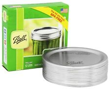 12 x Ball Mason Wide Mouth Lids (No Bands) Canning Preserving