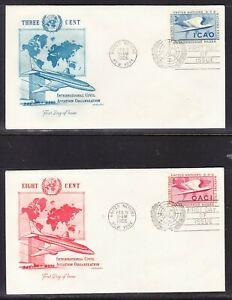 """United Nations """"Artmaster"""" 1955 Aviation TWO First Day Cover"""