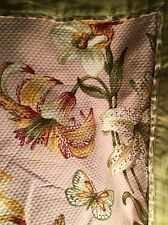 Waverly Home Pink Tiger Lily Matalesse Pique Butterfly Full Bedspread Sham Quilt