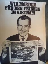 ORGINAL PLAKAT POSTER SATIRE RICHARD NIXON VIETNAM Deutsch ca 1972