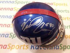 Victor Cruz New York Giants WR Autographed Giants Mini Helmet Steiner COA