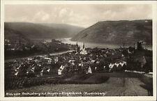 Bingen Bingerbrück Rheinhessen ~1940 Fluß Rhein Panorama Stadt Weinberge Häuser