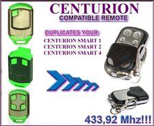Centurion Smart, Smart2, Smart4 compatible remote control, clone 433,92Mhz