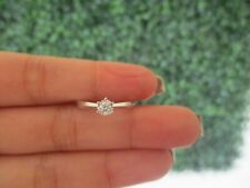 .094 CTW Diamond Engagement Ring 18k White Gold ER383 sep (PRE-ORDER)