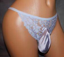 Light Purple  lace Cheeky SISSY POUCH PANTIES Sz m 28-40 xdress 4 Men