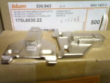 Blum 175L6630.22 CLIP Top Face Frame Adapter Plate Off Center Mounting Plate 3mm